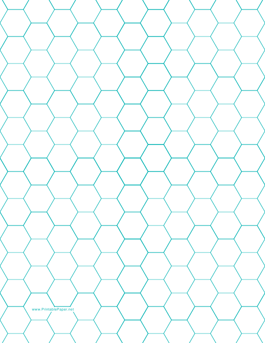 """Blue Hexagonal Graph Paper Template"" Download Pdf"