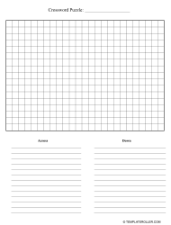 Crossword Puzzle Templates Pdf Download Fill And Print For Free