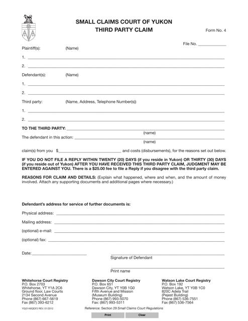 Form YG3149 (4) Printable Pdf