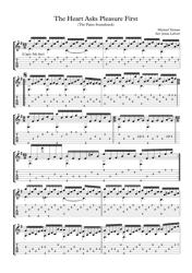 """Michael Nyman - the Heart Asks Pleasure First Piano Sheet Music"""