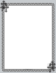 """Christian Black Cross Page Border Template"""