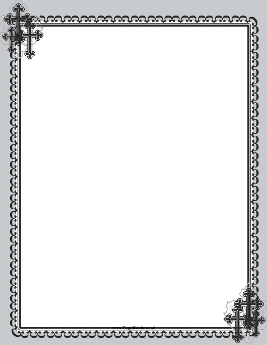 """Christian Black Cross Page Border Template"" Download Pdf"