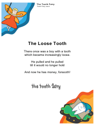 "Sample ""Tooth Fairy Letter for a Boy"""