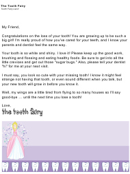 """Sample Tooth Fairy Letter"""