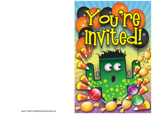 """""""Halloween Party Invitation Template"""" Download Pdf"""
