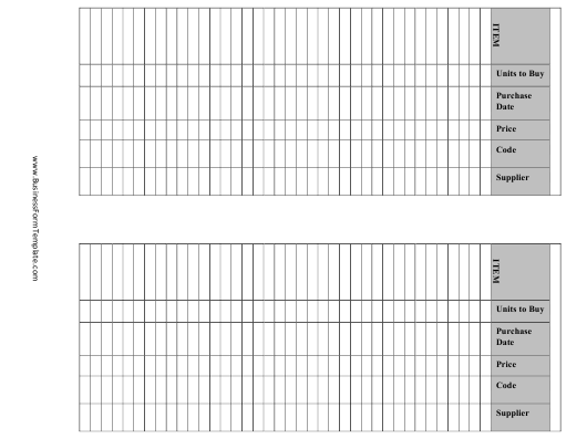 """""""Black and White Inventory Template"""" Download Pdf"""