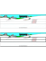 Desk Name Tag Template - January