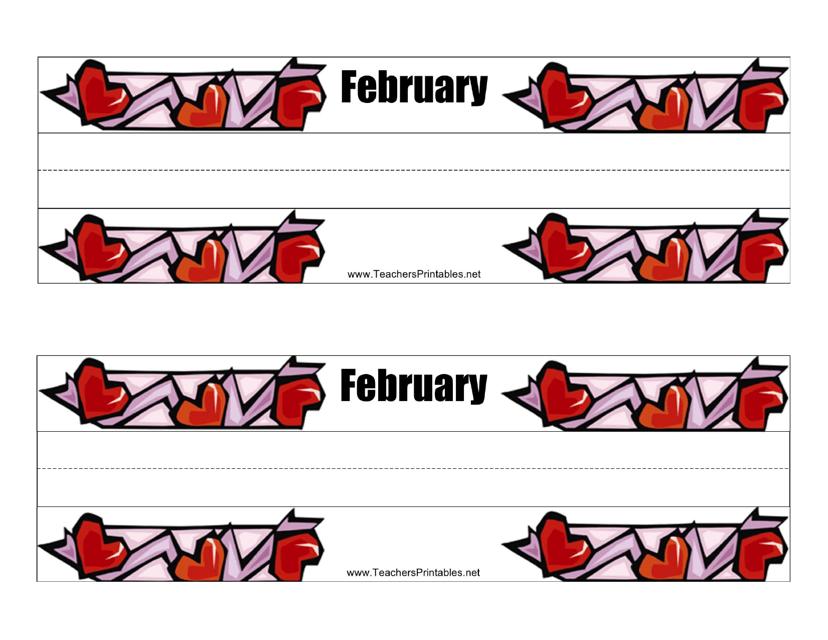 desk name tag template february download printable pdf