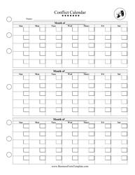 Fundraising planning calendar template institute for conservation conflict calendar template maxwellsz