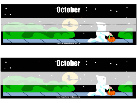 """Desk Name Tag Template - October"" Download Pdf"
