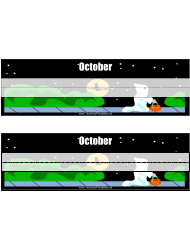 Desk Name Tag Template - October