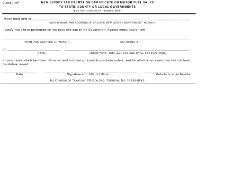 Form C-6060-MF  Printable Pdf