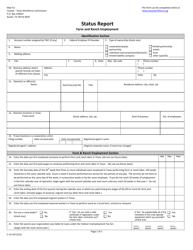 "Form C-1FR ""Farm & Ranch Employment Registration - Status Report"" - Texas"