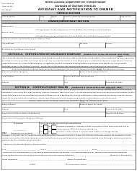 "Form MVR-4F ""Affidavit and Notification to Owner"" - North Carolina"