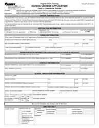 "Form DTS33A ""School License Application"" - Virginia"
