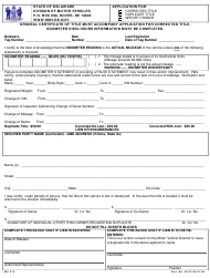 "Form MV213 ""Application for: Corrected Title/Duplicate Title/Weight Change"" - Delaware"