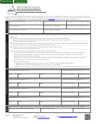 "Form 5095 ""Sales Tax Exemption Statement for Authorized Common Carriers"" - Missouri"
