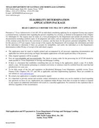 """""""Eligibility Determination Application"""" - Texas"""