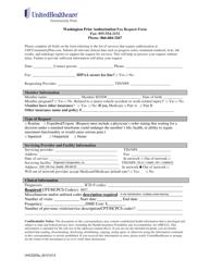Form 2335a_20121213 Prior Authorization Fax Request Form - Unitedhealthcare - Washington