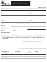 "Form R-6404 ""Affidavit of Waiver of Restrictions and Delays"" - Louisiana"