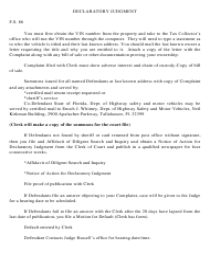 """Declaratory Judgment Form"" - South Carolina"