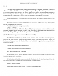 Declaratory Judgment Form - South Carolina