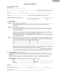"""Affidavit of Service Form"" - New York"