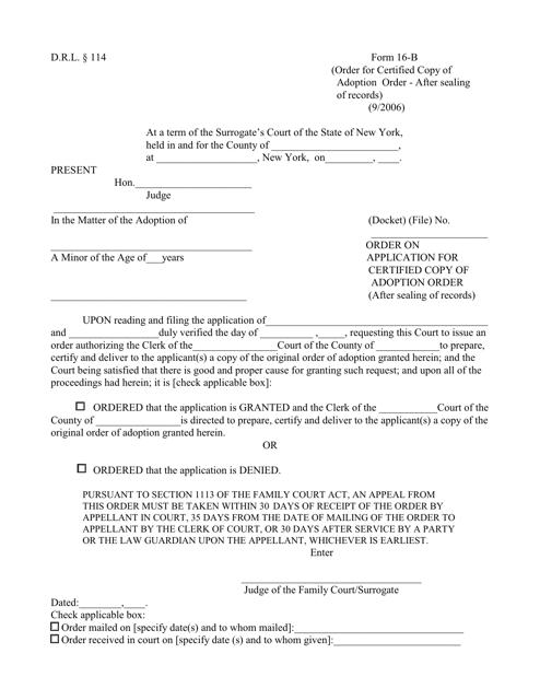 Form 16-B  Printable Pdf