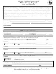 """Class Change Request Form - Maggie L. Walker Governor's School"""