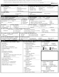 Disaster-Related Mortality Surveillance Form