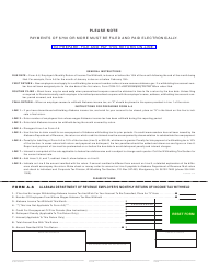 Form A-6 Employer's Monthly Return of Income Tax Withheld - Alabama
