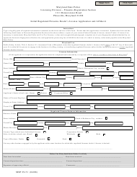 Form MSP 29-51 Initial Regulated Firearms Dealer's License Application and Affidavit - Maryland