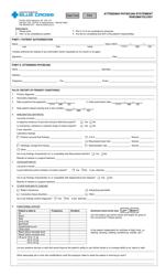 """Attending Physician Statement - Rheumatology - Blue Cross"" - Saskatchewan, Canada"