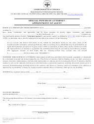 """PBB Form 1 """"Special Power of Attorney - Appointment of Agent"""" - Virginia"""
