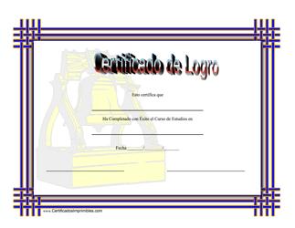 Certificado De Logro En Historia