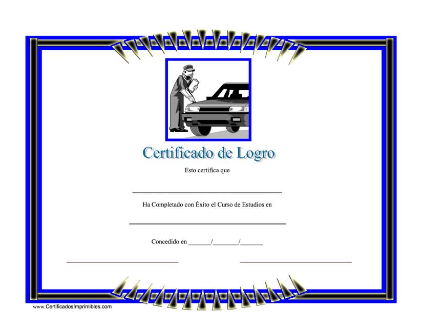 """Certigicado De Logro"" (Spanish) Download Pdf"