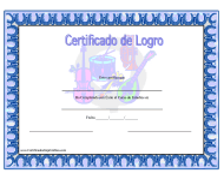 Certificado De Logro