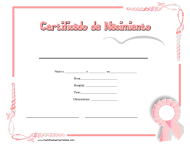 """Certificado De Nacimiento"" - Spain (Spanish)"