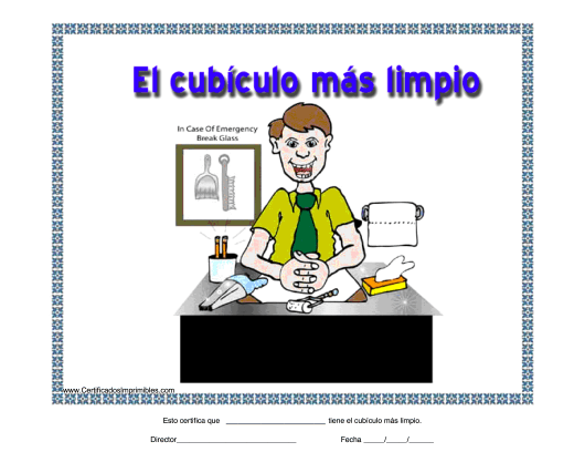"""""""El Cubiculo Mas Limpio Certificado"""" - Spain (Spanish) Download Pdf"""