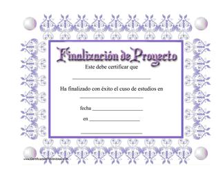 """""""Finalizacion De Progecto"""" (Spanish)"""