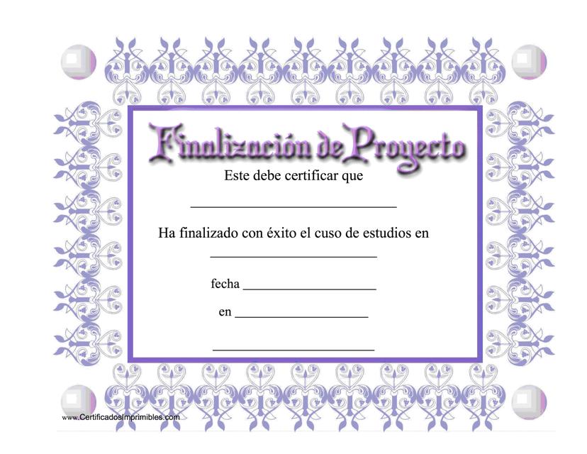 """Finalizacion De Progecto"" (Spanish) Download Pdf"