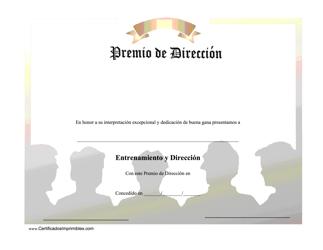 """""""Premio De Direccion - Dedicacion De Buena Gana"""" (Spanish)"""