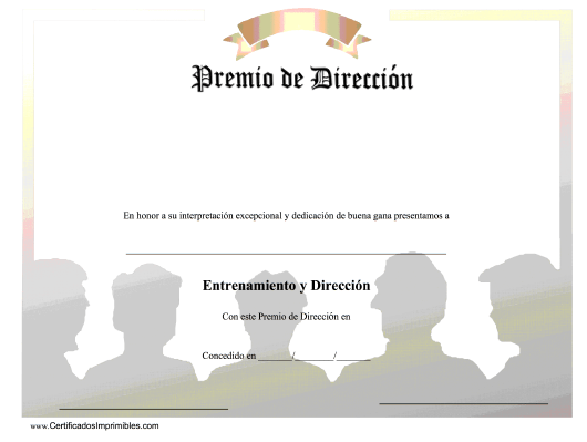 """Premio De Direccion - Dedicacion De Buena Gana"" (Spanish) Download Pdf"