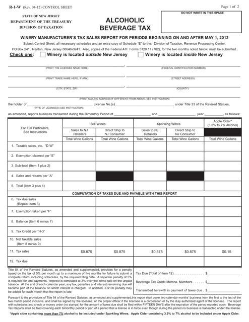 Form R-1-W  Printable Pdf
