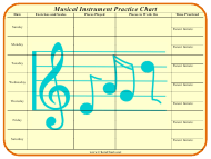 """Musical Instrument Practice Chart Template"""