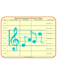 Musical Instrument Practice Chart Template