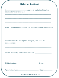 """Behavior Contract Template for Kids"""