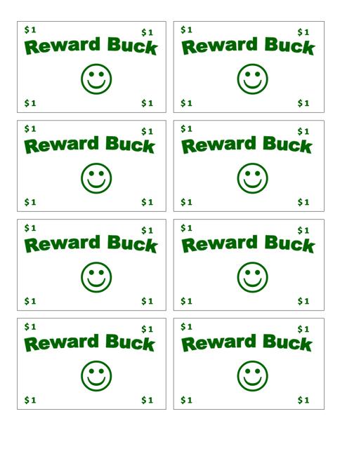 """One Reward Buck Template"" - United Kingdom Download Pdf"