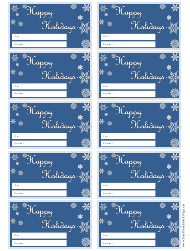 Happy Holidays Gift Tag Templates