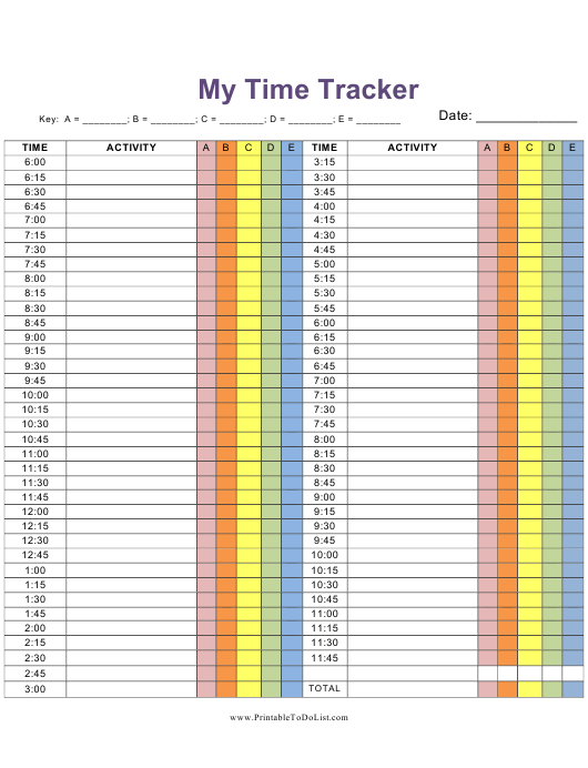 my time tracking spreadsheet template download printable pdf